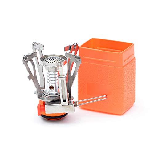 Mallalah - Hornillo de camping a gas portátil y plegable, mini hornillo de gas 3000 W para senderismo, picnic, barbacoa