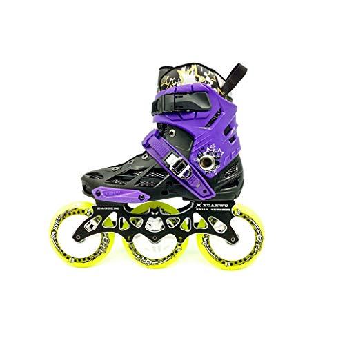 Taoke Inline-Skates, 3 Räder 110MM Rad Erwachsener einreihig Skates zusätzlich Flash-Roller Skates (Farbe: # 2, Größe: 36 EU / 4.5 US / 3.5 UK / 23cm JP) dongdong