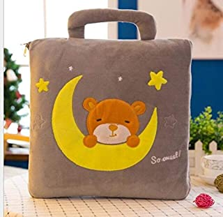 MANGMOC Kids Cartoon Toy Owl Kitty Man Blanket Cushion Quilt Pillow Toy 3 Functions Combined Home Decor Toy Must Have Toys Friendship Gifts The Favourite Anime Superhero Cake Topper One Collection