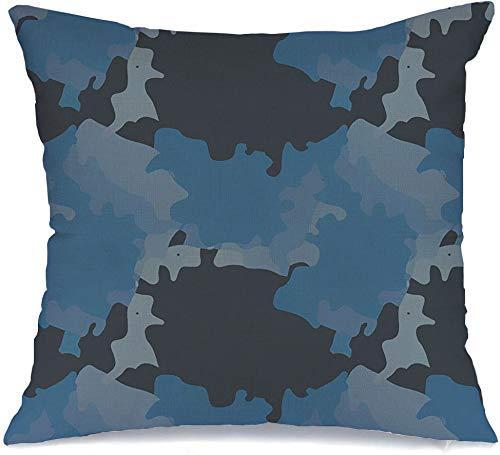 Funda de cojín Como patrón militar sin costuras camuflado para tonos que visten texturas con textura OVNI Funda de Cojine 45 X 45CM