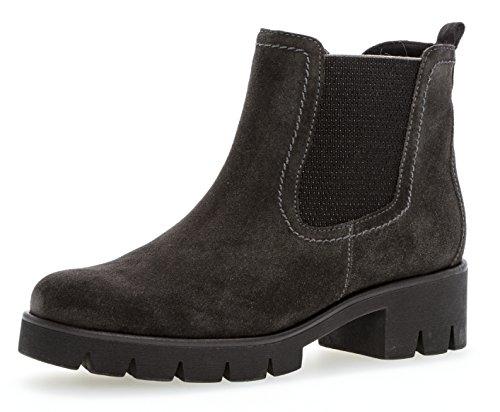 Gabor Damen Chelsea Boots 93.710,Frauen Stiefel,Halbstiefel,Stiefelette,Bootie,Schlupfstiefel,hoch,Blockabsatz 3cm,F Weite (Normal),Pepper,UK 7