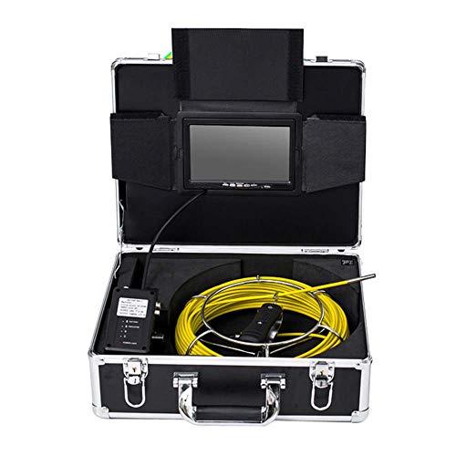 XINTONGSPP Rohrinspektion Videokamera, 7 Zoll WiFi Industrial Pipeline Abwasserkennkamera IP68 Drainage Detection 1000 TVL-Kamera,30m