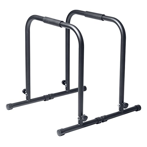 Adjustable Dip Push Up Body Row Pull Station for Total Body Crossfit Workout