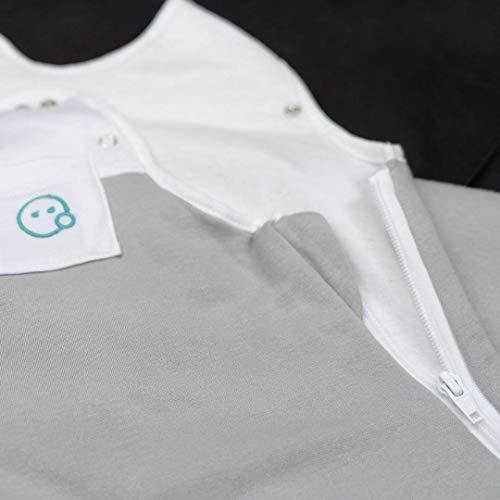 VABY – Baby Schlafsack, OEKO-TEX ®, aus Baumwolle und Bambus, Ganzjahres Schlafsack, Babyschlafsack verstellbar, für Neugeborene bis zu max. 2 Jahren, mitwachsend, Junge und Mädchen, 2.5 TOG (Grau) - 9