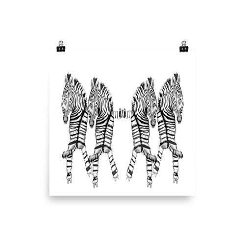 Fotopapier, Motiv: Tanzende Zebras auf Rollschuhen, glänzend 12×12 weiß