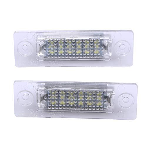 YZHUA 2 unids LED Número de matrícula Lámpara Trasera Lámpara Trasera de 18 LED para VW Caddy Transportter P/Assat Car Licatric Lights Lights Styling