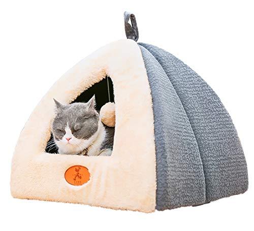Heaven Days(ヘブンデイズ) ペット ベッド 犬 猫 ペット用寝袋 ペットハウス 暖かい クッション ドーム型 ボール付き 洗える 1902E0115