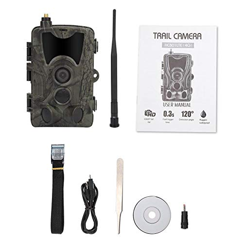 Trail-Kamera, Infrarot wasserdichte 3G MMS 1080P HD-Jagd-Trail-Kamera Hochempfindliche Wildlife Night Vision Hunting-Trail-Kamera
