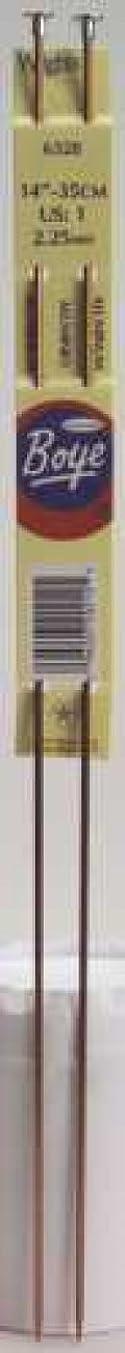 Boye Single Point Aluminum Needles 14 Inch -Size 13