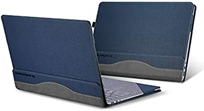 Surface Laptop 2 Case, Pu Leather Detachable Cover for 2018 Microsoft Surface Laptop 2 13.5 Inch Sleeve (Surface Laptop 2 13.5