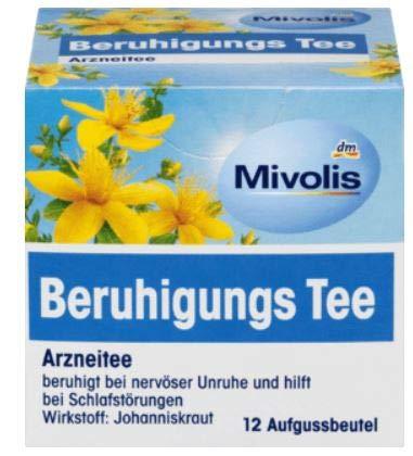 Arznei-Tee, Beruhigungstee - bei Schlafstörungen, bei nervöser Unruhe, 2er Pack (2*24 g)