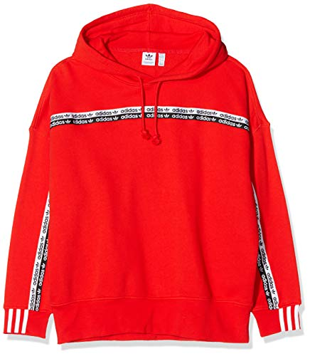 adidas Womens Hoodie Hooded Sweatshirt, Active Red, 36