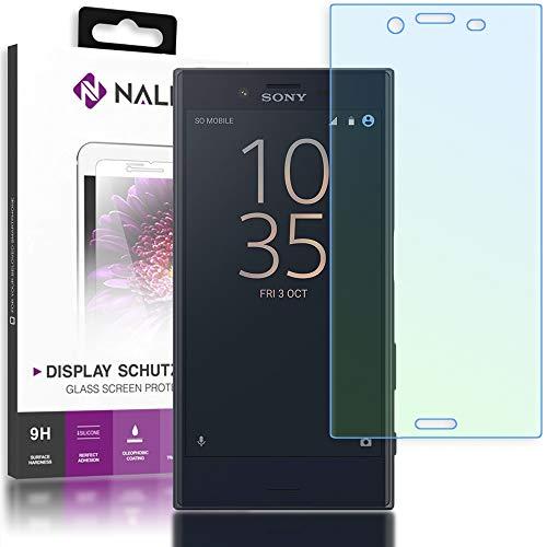 NALIA Schutzglas kompatibel mit Sony Xperia X Compact, 3D Full-Cover Bildschirmschutz Handy-Folie, 9H Glas-Schutzfolie Display-Abdeckung, Schutz-Film HD Screen Protector Tempered Glass - Transparent