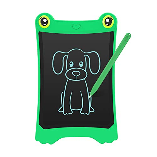 NEWYES 8.5 Inch LCD Writing Tablet Updated Frog Pad Children Electronic Doodle Board Jot Digital E-Writer Kids Scribble Toy with Lock Function Green