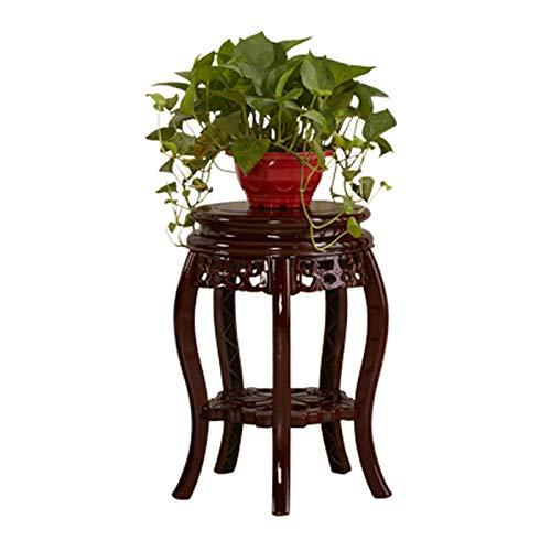 Cdbl Étagère de Rangement Support de Pots de Fleurs en Bois de Style Chinois Antique Salon Balcon intérieur Sol Stand de Fleurs Support en Bois Massif (Taille : 20cm)