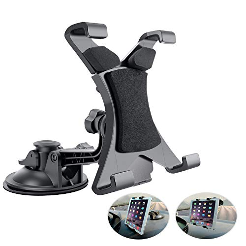 Supporto per Tablet Auto Car Holder Regolabile a 360 Gradi con Forte Ventosa da Parabrezza Cruscotto per 7'~ 10.5' Tablet