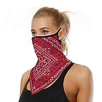 ネック・フェイススカーフマスク、バンダナダストスポーツハイキング乗馬モーターサイクルを実行している顔鉢巻き女性メンズワークアウトヨガマスク (Color : A)