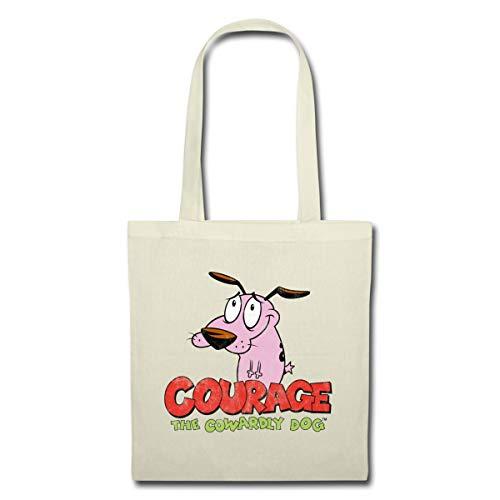 Spreadshirt Cartoon Network Courage Le Chien Froussard Logo Sac En Tissu, nature