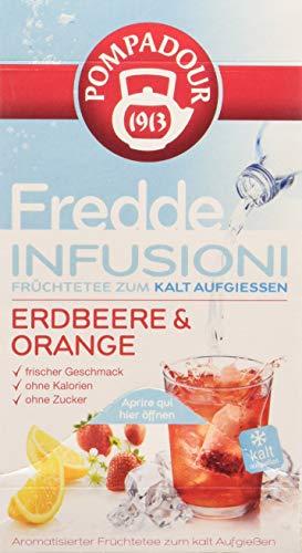 Pompadour Fredde Infusioni Fragola & Arancia - 18 filtri - (confezione da 3)