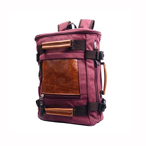 HQ Sac à dos rétro neutre, sac à dos décontracté, randonnée sac à dos, sac à dos pour ordinateur portable, sac en toile de voyage ( Couleur : Violet )