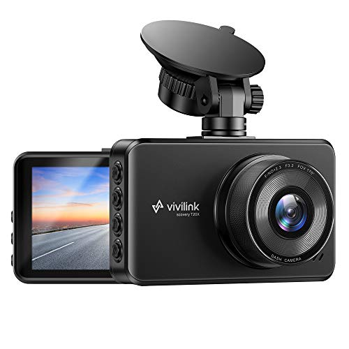 """ViviLink T20X 2.5K Dash Cam for Cars, Car Camera Car Driving Recorder, 3"""" IPS Screen, WDR & F2.3 Aperture for Super Night Vision, 170° Wide Angle, Loop Recording, G-Sensor, Parking Monitor"""