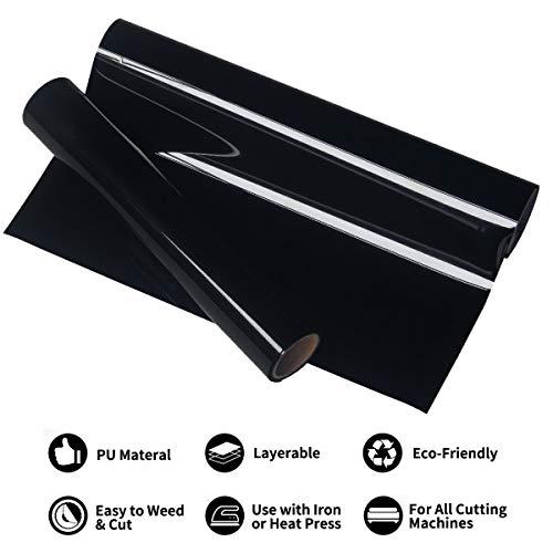 SLSMD warmteoverdracht vinyl zwart, PU heat transfer vinyl, zwart HTV vinyl rol voor DIY T-shirts kleding ijzer op vinyl voor silhouet Cameo Cricut of transferpers machine