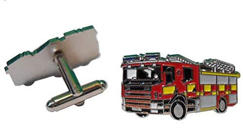 B4B Feuerwehrauto Fire Brigade Feuerwehr Notfall Service Metall Truck Manschettenknöpfe