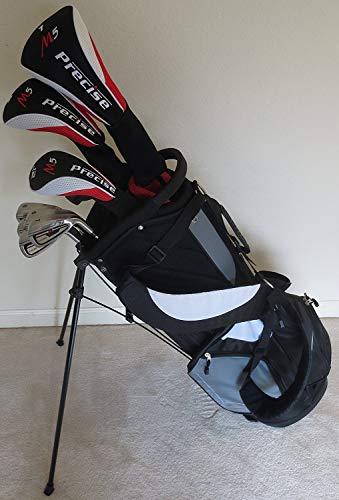 Set completo de Golf para hombre titanio clubes y bolsa del conductor, madera Fairway, híbrido, hierros, palo de diestros