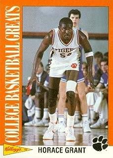 Horace Grant Basketball Card (Clemson Tigers) 1992 Kellogs College Basketball Greats #4