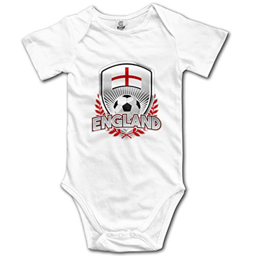 England Soccer Baby Onesies,Unisex Solid Multicolor Baby Bodysuits 0-24 Months