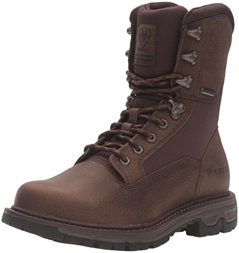 """Ariat Men's Conquest Round Toe 8"""" GTX Hunting Boot, Pebbled Brown, 9 2E US"""