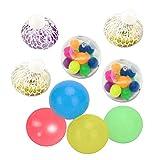 Bolas de estrés, 9 piezas adhesivas para la pared, juguetes de descompresión, bolas adhesivas para exprimir frutas, juguetes de descompresión sensoriales