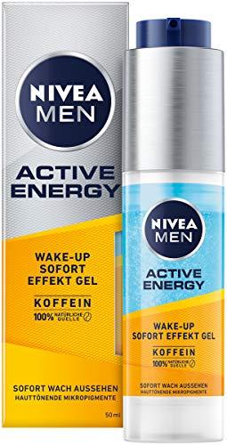 NIVEA MEN Active Energy Wake-up Sofort-Effekt Gel (50 ml), Gesichtscreme für Männer mit 100{2082c468602a702469c7a5494dddfee02d2991e9748d15664b6ed957ae0a1b4e} natürlichem Koffein, Feuchtigkeitscreme gegen Zeichen von Müdigkeit
