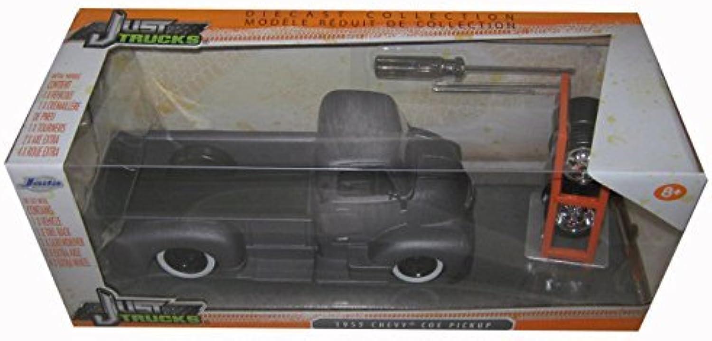1952 Chevrolet Coe Pickup Truck Matt Grey Just Trucks  with Extra Wheels 1 24 by Jada 97221