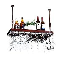 ライフアクセサリーハンギングワインラックワイン赤ワインカップホルダーホームクリエイティブハンギングハンギングカップホルダーバーハイカップホルダー(サイズ:60 * 28cm)
