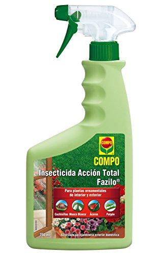 Compo Compo Fazilo Insecticida Acción Total, Para plantas ornamentales de interior y exterior, Envase pulverizador, Multicolor, 750 ml, 1463502011