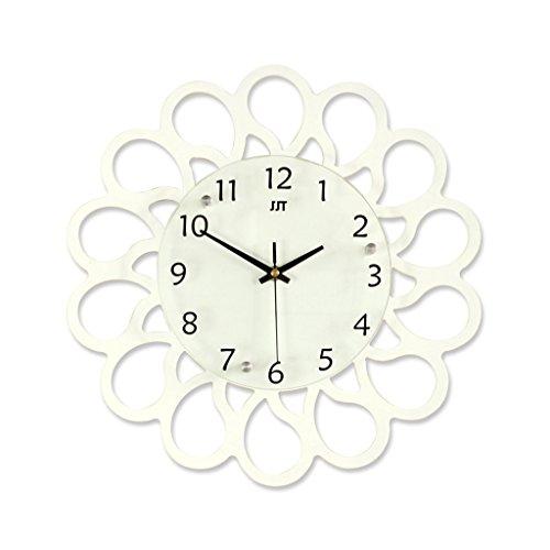 Orologio da parete Bianco Legno personalità Creativo Orologio al Quarzo Decorazione Camera da Letto Muto Tavolo appendente