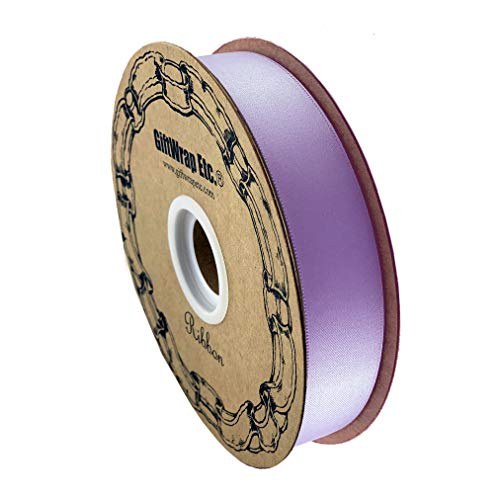 Lavender Satin Fabric Ribbon - 1' x 100 Yards, Easter, Holiday Decor, Garland, Gifts, Wrapping, Wreath, Gift Bow, Christmas, Mother's Day, Birthday, Gender Reveal, Baby Shower