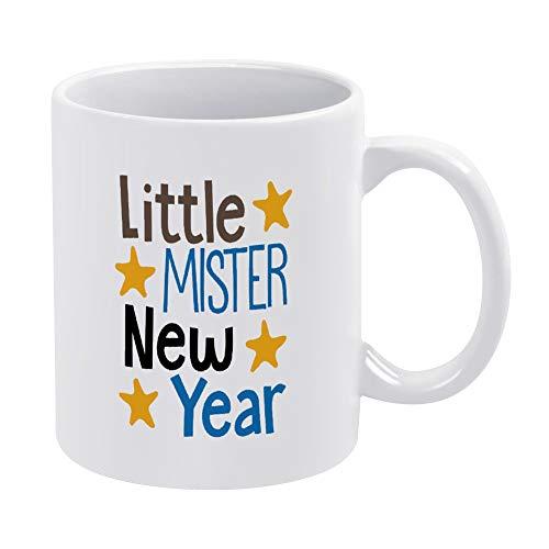 Taza de café de cerámica con diseño de Little Mister para bebés y niños, de 11 onzas