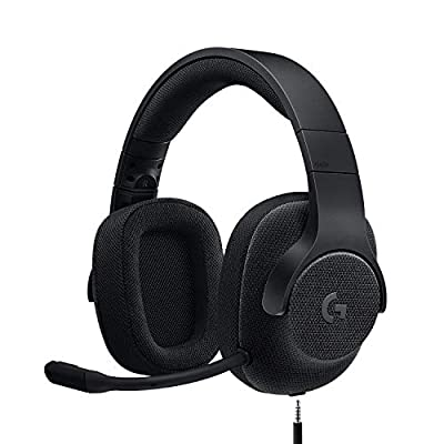 Logitech G433 Wired Gaming Headset, 7.1 Surround Sound, DTS Headphone:X, 40 mm Pro-G Audio Drivers, Lightweight, USB and 3.5 mm Audio Jack, PC/Mac/Nintendo Switch/PS4/Xbox One - Black from Logitech
