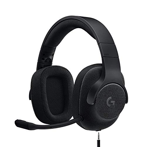 Logitech G433 kabelgebundenes Gaming-Headset, 7.1 Surround Sound, DTS Headphone:X, 40mm Treiber, USB-Anschluss & 3.5mm Klinke, Abnehmbares Mikrofon, PC/Mac/Xbox One/PS4/Nintendo Switch, Schwarz