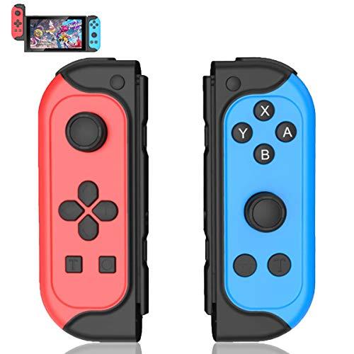 Wireless Controller für Switch, 2er-Set Links Rechts Replacement Kabelloser Bluetooth Gamepad Joypad Joystick Controller Switch Kompatible mit Switch & Lite