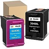 ATOPolyjet Remanufactured for HP 304 XL 304XL Cartucho de Tinta 1 Pack para Envy 5020 5030 5032 5050 5055 Deskjet 2630 2620 3720 3730 3733 2622 2634 2652 AMP 100 130 120 125, Tri-Color & Negro
