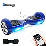 """BEBK Hoverboard Bluetooth, 6.5"""" Self Balancing Electric Scooter with Carry Bag and LED Light, Safe Gifts UL2272 Certified for Adults and Kids(Blue Bluetooth)"""