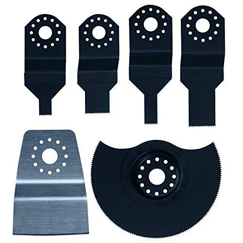 Einhell Starter-Set 6-tlg. (passend für alle Einhell Multifunktionswerkzeuge, HCS Tauchsägeblatt (10/20 mm), HSS Tauchsägeblatt (10/20 mm), HCS Segmentsägeblatt, Schaber)