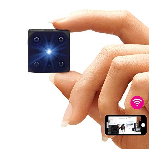 Peecla Mini Camara Vigilancia WiFi Interior HD IP Alarmas para Casa Espia Oculta Ver En El Movil Spy CAM con Infrarrojos Sin Hilos con App Microcámara Grabadora De Voz Antirrobo Allarmas