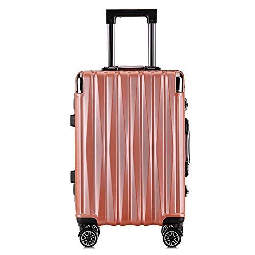 WLDOCA Hartschale Koffer Reisekoffer,Luxuriöser und moderner Koffer mit Zahlenschloss Handgepäck und 4 Rollen,Business Trolley,Gold,37cm*24cm*58cm