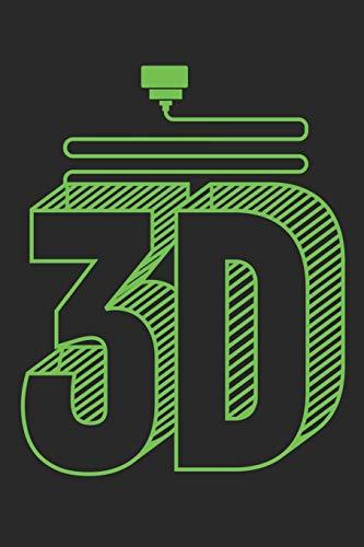 3D: Notizbuch, Skizzenbuch, Planer oder Konstruktionsbuch in 6x9 Zoll (ca A5)   perfekt für alle G-Code-Fans, 3D-Modell Designer, 3D-Druck-Fans und ... von Projekten und zum festhalten von Ideen!