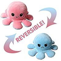 元のリバーシブルタコぬいぐるみ、おもちゃは言葉を言わずにあなたの気分を見せることができます!,Pick&blue