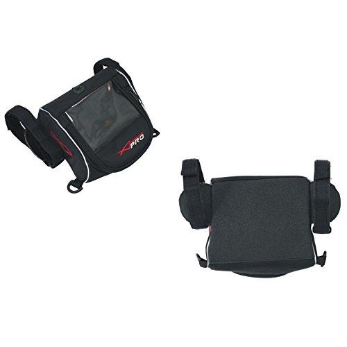 A-Pro GPS Resistente al Agua Soporte Funda para GPS Navegación Tensiómetro Moto Negro
